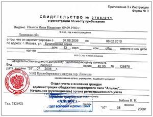 Основание временной регистрации где платно сделать медицинскую книжку